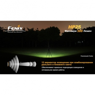 Фонарь Fenix HP25 CREE XP-E Желтый